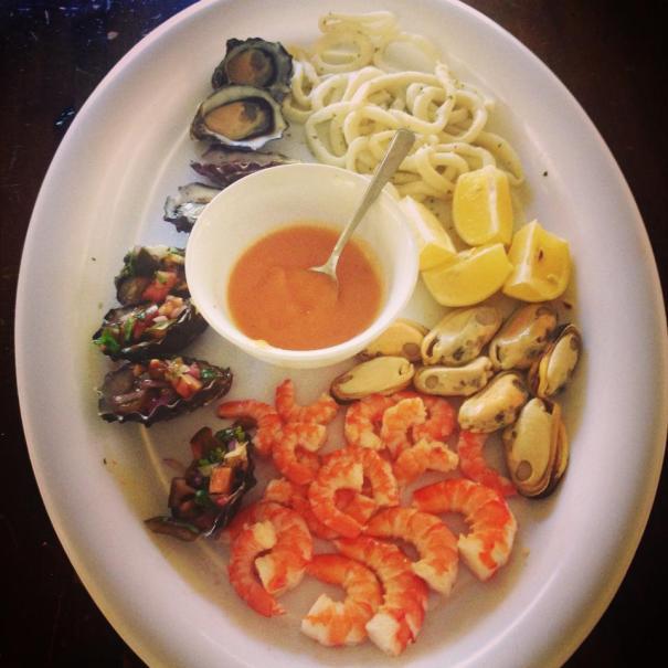 A little seafood platter!